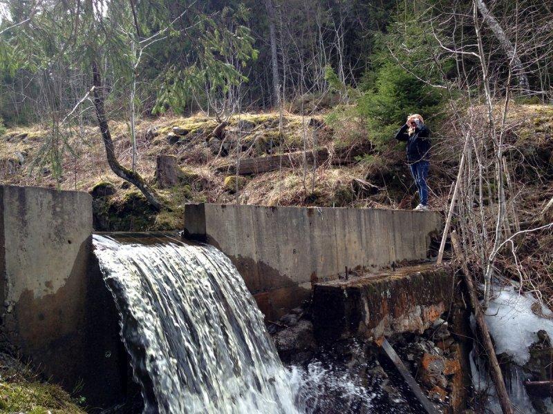 Liten dam i Byåa rett overfor RV120.