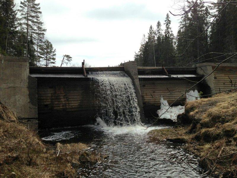 Dammen ved Gjeddevann.